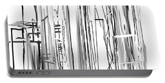Portable Battery Charger featuring the digital art Abstract City by Jessica Wright