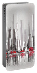 Abstract Cityscape Painting - 1 Portable Battery Charger