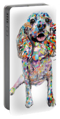 Abstract Cocker Spaniel Portable Battery Charger