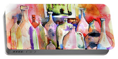 Portable Battery Charger featuring the painting Abstract Containers by Terry Banderas