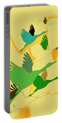 Abstract Cranes Portable Battery Charger