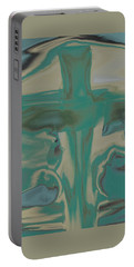 Portable Battery Charger featuring the painting Abstract - Cross by Lenore Senior