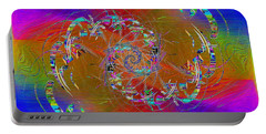 Portable Battery Charger featuring the digital art Abstract Cubed 351 by Tim Allen