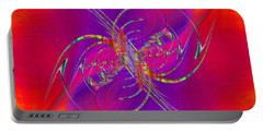 Portable Battery Charger featuring the digital art Abstract Cubed 365 by Tim Allen