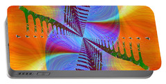 Portable Battery Charger featuring the digital art Abstract Cubed 372 by Tim Allen