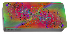 Portable Battery Charger featuring the digital art Abstract Cubed 382 by Tim Allen