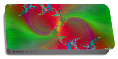Portable Battery Charger featuring the digital art Abstract Cubed 383 by Tim Allen