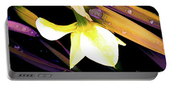 Abstract Daffodil And Droplets Portable Battery Charger