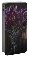 Abstract Dark Rose Portable Battery Charger