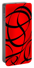 Abstract Design In Red And Black Portable Battery Charger