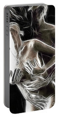 Abstract Digital Artwork Of A Couple Making Love Portable Battery Charger