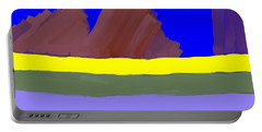 Abstract Digital Mountains Portable Battery Charger