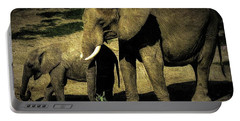 Abstract Elephants 23 Portable Battery Charger