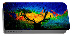 Abstract Elk Scenic View Portable Battery Charger