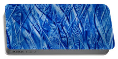 Abstract Encaustic Blues Portable Battery Charger