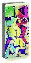 Portable Battery Charger featuring the digital art Abstract Explosion by Susan Leggett