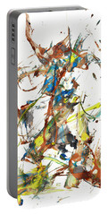 Portable Battery Charger featuring the painting Abstract Expressionism Painting Series 1040.050812 by Kris Haas