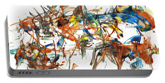 Portable Battery Charger featuring the painting Abstract Expressionism Painting Series 1041.050812 by Kris Haas