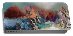 Abstract Fall Landscape Painting Portable Battery Charger