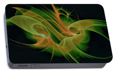 Portable Battery Charger featuring the digital art Abstract Ffz by Deborah Benoit