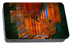 Portable Battery Charger featuring the painting Abstract Fields by Alexa Szlavics