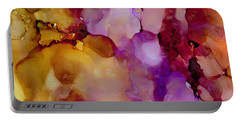 Abstract Floral #22 Portable Battery Charger