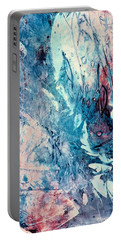 Abstract Floral 33 Portable Battery Charger by Carolyn Repka