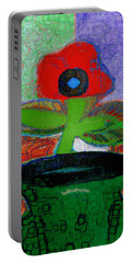 Abstract Floral Art 109 Portable Battery Charger