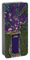 Abstract Floral Art 145 Portable Battery Charger