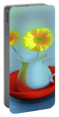 Abstract Floral Art 268 Portable Battery Charger
