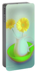 Abstract Floral Art 273 Portable Battery Charger