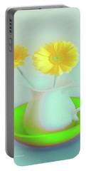 Abstract Floral Art 275 Portable Battery Charger