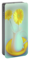Abstract Floral Art 281 Portable Battery Charger