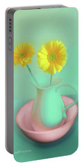 Abstract Floral Art 282 Portable Battery Charger