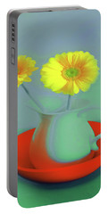Abstract Floral Art 301 Portable Battery Charger