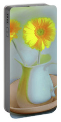 Abstract Floral Art 303 Portable Battery Charger