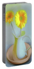 Abstract Floral Art 304 Portable Battery Charger