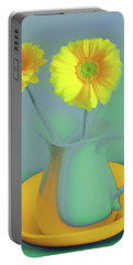Abstract Floral Art 307 Portable Battery Charger
