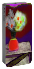 Abstract Floral Art 339 Portable Battery Charger