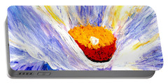 Abstract Floral Painting 001 Portable Battery Charger