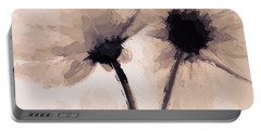 Portable Battery Charger featuring the mixed media Abstract Flower by Anthony Fishburne