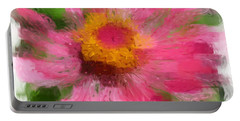 Abstract Flower Expressions Portable Battery Charger