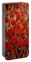 Abstract Flowers Portable Battery Charger by Greg Moores