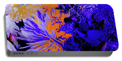 Abstract Flowers Of Light Series #1 Portable Battery Charger