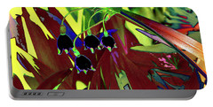 Abstract Flowers Of Light Series #10 Portable Battery Charger