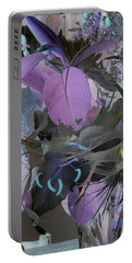 Abstract Flowers Of Light Series #12 Portable Battery Charger