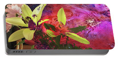Abstract Flowers Of Light Series #16 Portable Battery Charger