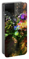 Abstract Flowers Of Light Series #17 Portable Battery Charger