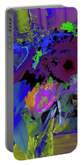 Abstract Flowers Of Light Series #18 Portable Battery Charger