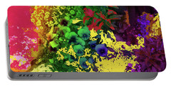 Abstract Flowers Of Light Series #2 Portable Battery Charger